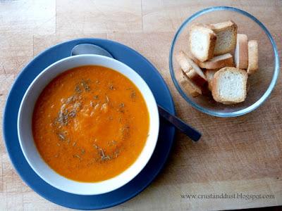 Zupa krem marchwiowy z imbirem i cytryną