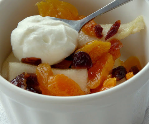 Zimowy deser owocowy
