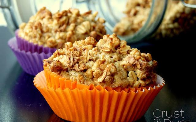 Muffiny gruszkowe z crunchy kruszonką