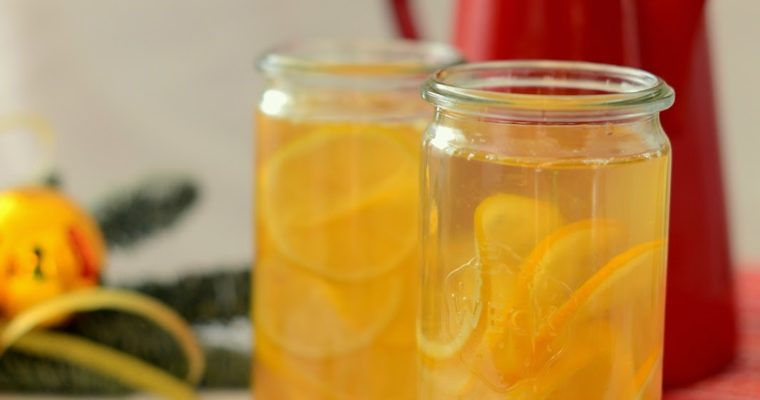 Syrop do herbaty z kandyzowanymi cytrynami [Jadalne prezenty #9]