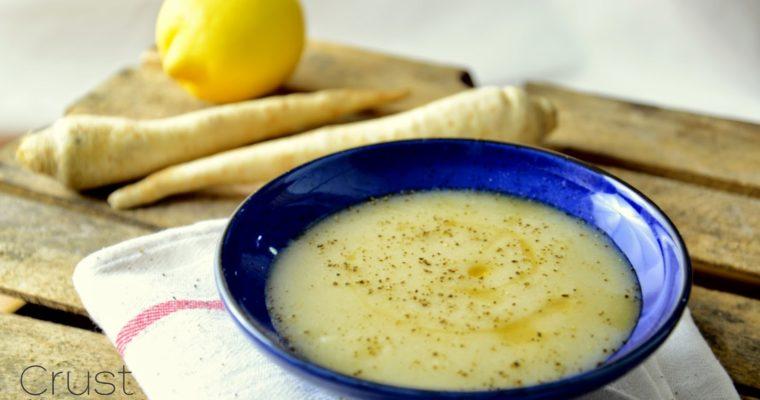 Zupa krem z pieczonej pietruszki z cytryną – bez soli